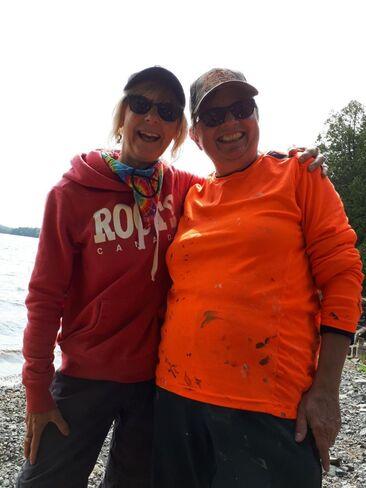 girls on fishing trip Burton, NB