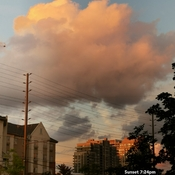 Sept 15 2021 7:24pm Sunset - Pink Cotton Candy cloud in Thornhill