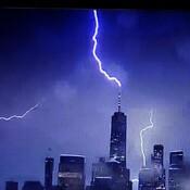 multiple lightning strikes World Trade Center