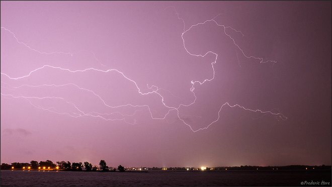 Montreal region pummeled by thunder and lightning storm Sept 15 Lachine Lighthouse, Parc Saint-Louis, Ferry Ramp, Lachine, QC