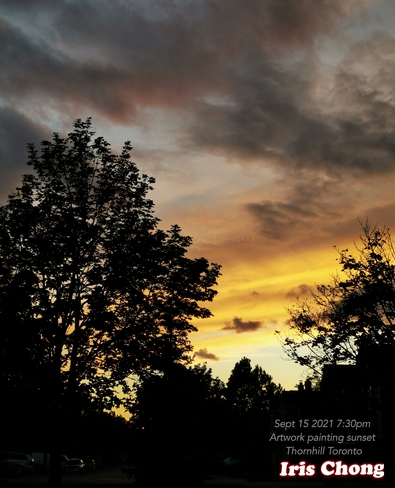 Sept 15 2021 7:30pm Sunset - Nature Artwork painting sunset in Thornhill Thornhill, ON