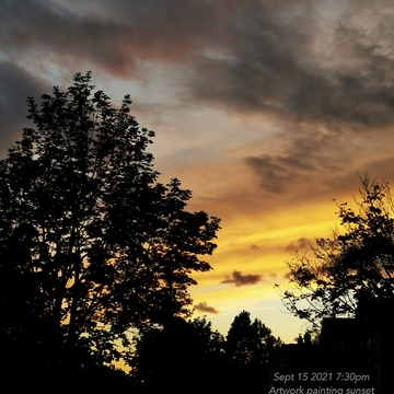 Sept 15 2021 7:30pm Sunset - Nature Artwork painting sunset in Thornhill