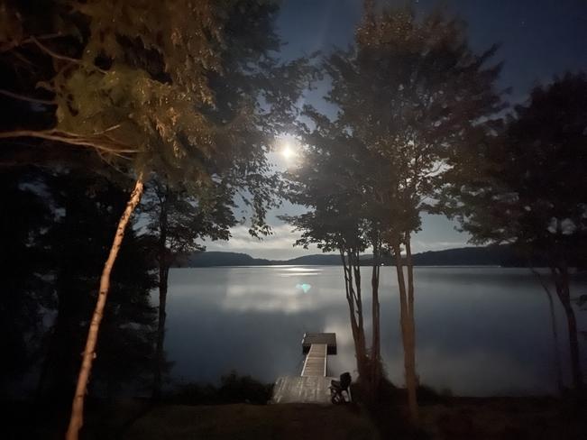 Moonlight on Drag Lake Haliburton, Ontario, CA