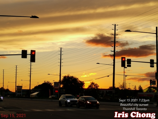Sept 15 2021 7:23pm September beautiful city sunset in Thornhill Thornhill, ON