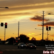 Sept 15 2021 7:23pm September beautiful city sunset in Thornhill