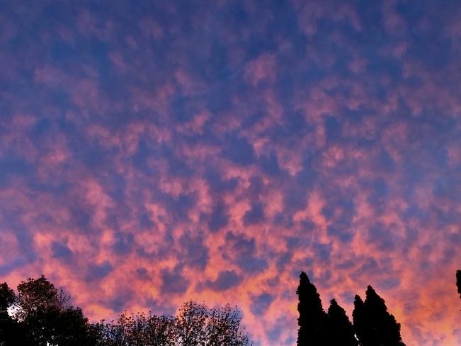Sunset clouds last night!! Dorval, Quebec, CA