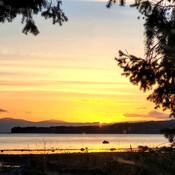 Sunrise at Denman Island