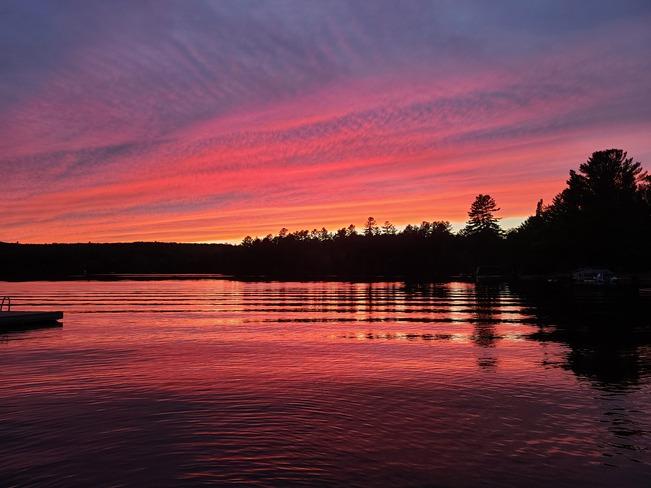 sunset on Johnson lake QC Thorne, QC