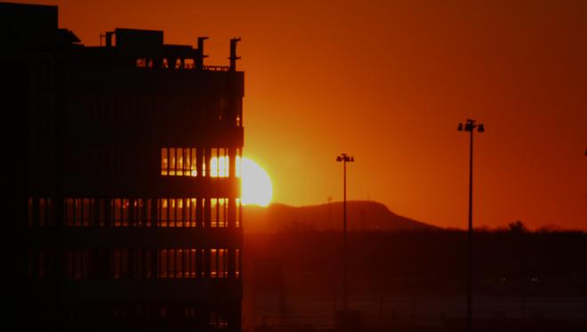 Au soleil couchant Saint-Hyacinthe, Québec, CA