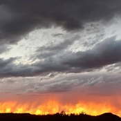 Sunset: fire in the sky