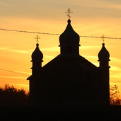 Many sunsets have been seen by this church…