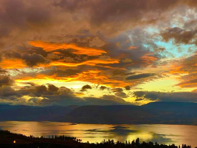 Sunset over Kelowna looks like a painting West Kelowna, BC
