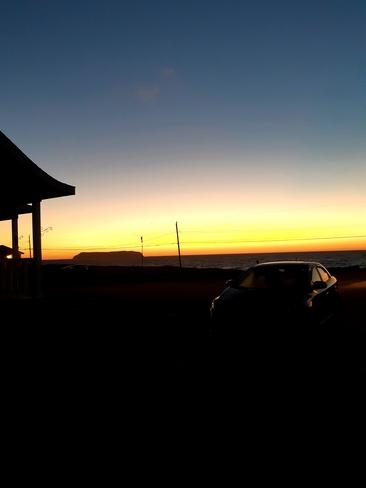 My view last evening, Mainland, NL