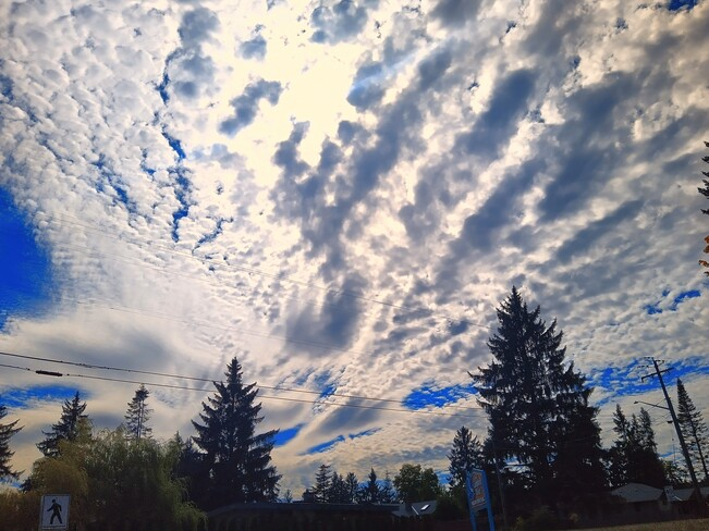 Interesting clouds Campbell River, BC