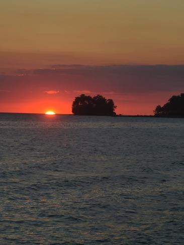 last bit of sunset Tiny, ON