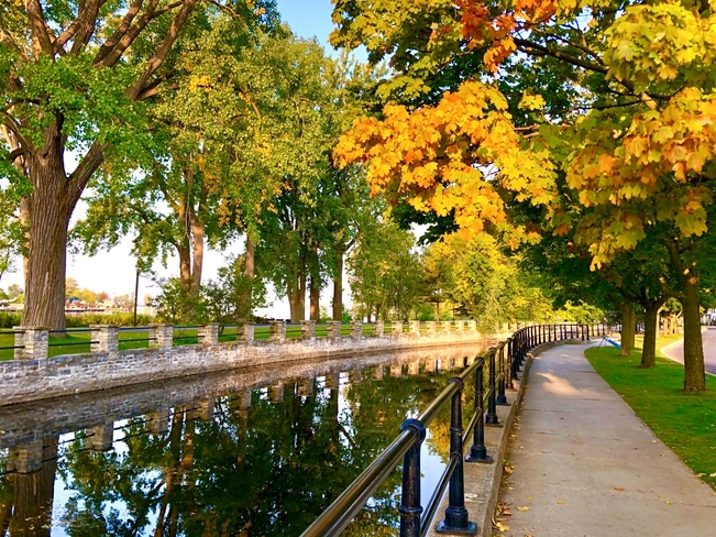 Lachine Canal in the fall Lachine, Quebec, CA