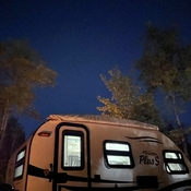 Camping stars clear night