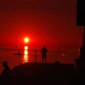 Sunset...at the pier w/ fisherman