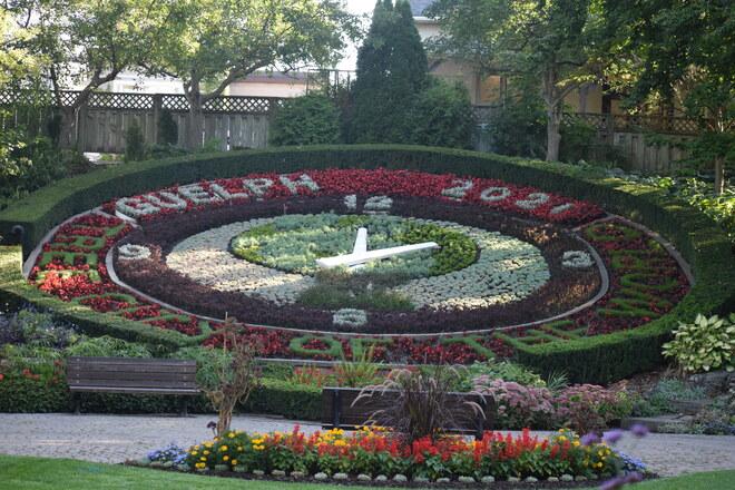Floral Clock Garden Riverside Park, Woolwich Street, Guelph, ON
