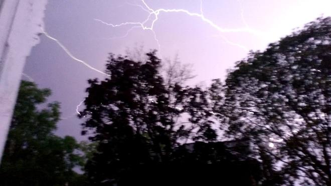 lightning at night Trenton, ON