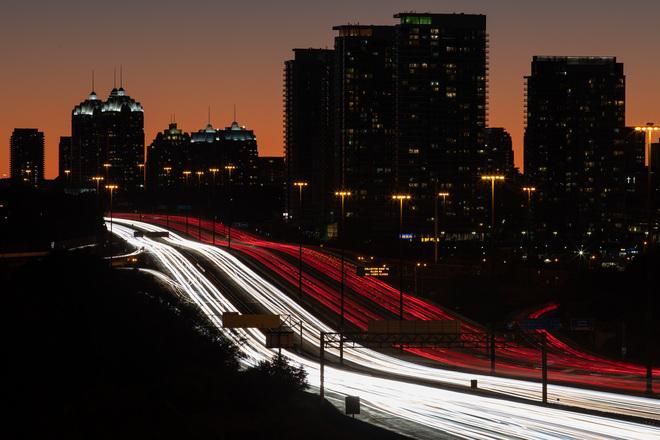 Saturday night on the 401 North York, Toronto, ON