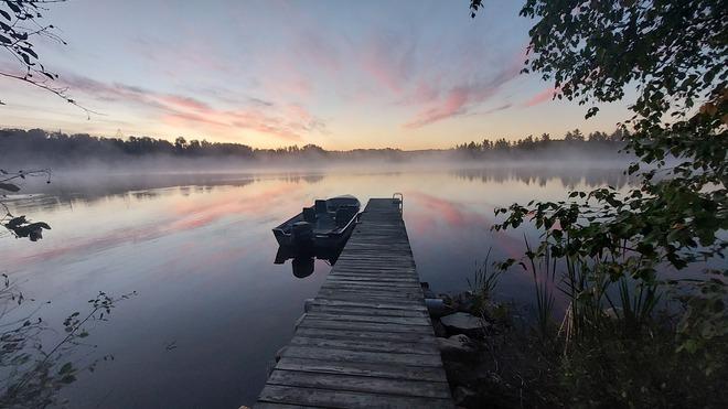 Sunrise lake near Atikokan Atikokan, ON