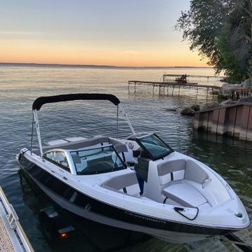 Sunset boating.