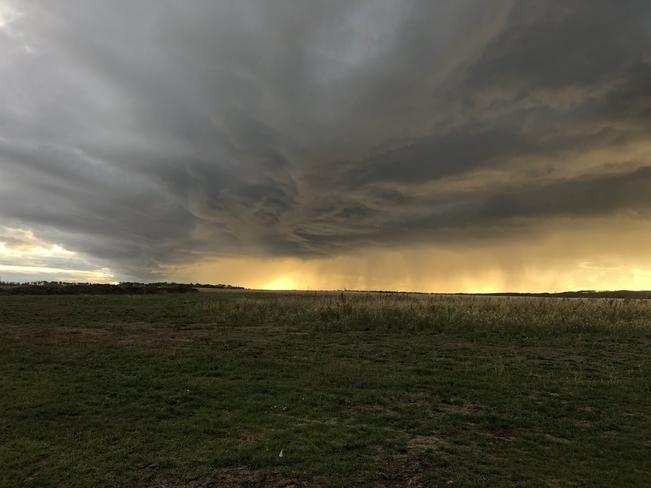 Quick moving storm. Teepee Creek, Alberta, CA