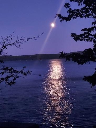levé de lune Lac-Simon, QC
