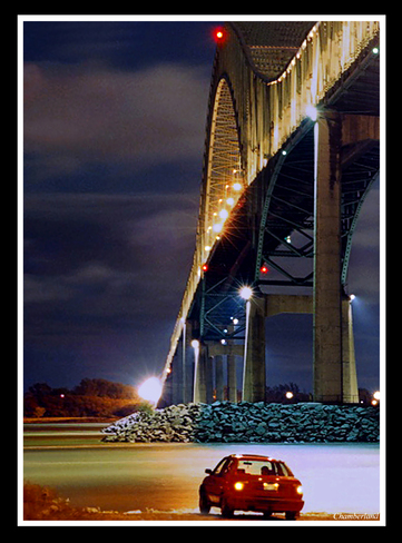 Pont Laviolette, 19 sept. 20h:00 Trois-Rivières, QC