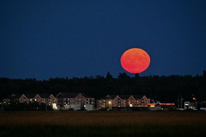 Harvest Moon rise Moncton, NB