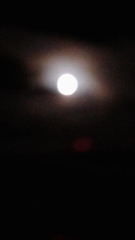 Moon reflecting on the Clowds Ottawa, ON