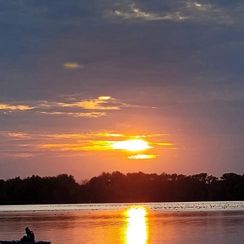 Sunset over the water Oak Ridges, ON