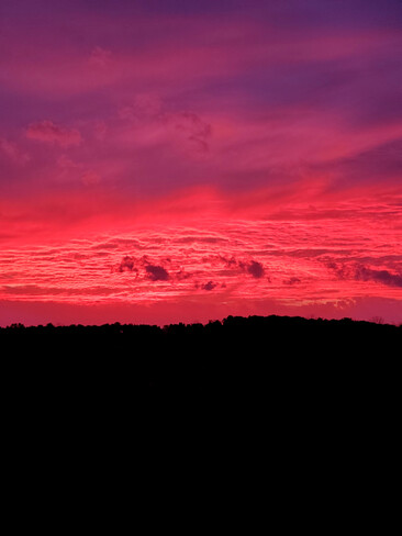 Red sky in morning... Precious Corners, ON