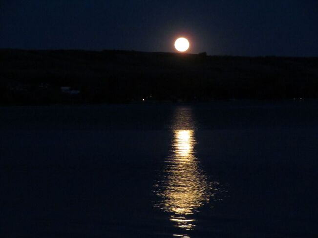 Moon Rise over Buffalo Pound Lake Buffalo Pound Lake, Saskatchewan