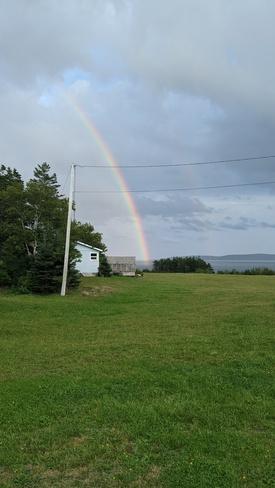 Double Rainbow Sugar Loaf, Nova Scotia
