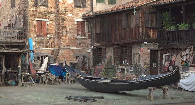 """Gondola """"Squeri"""" Campo San Barnaba, Venice, Metropolitan City of Venice, Italy"""