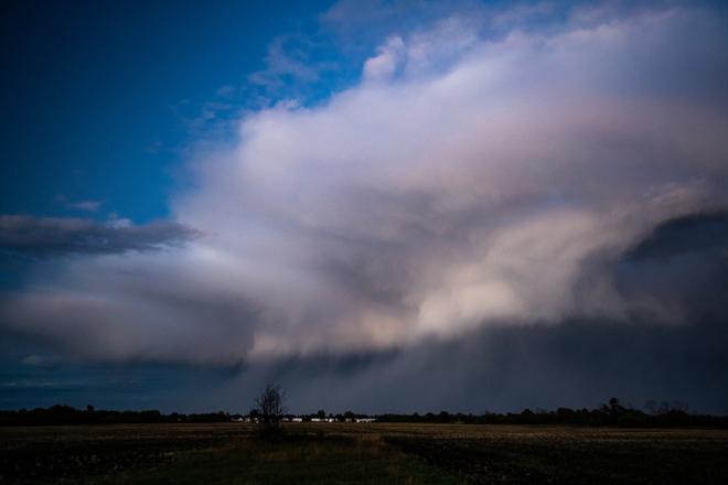 Cloud Downburst Winnipeg, MB