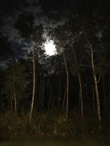 A full moon Almdals Cove, Manitoba, CA