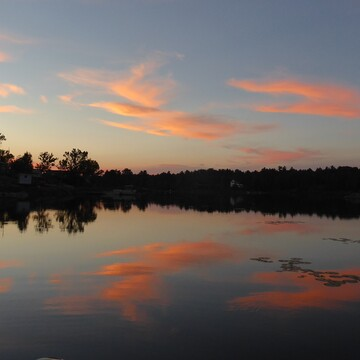 Clouds and reflections at the French River