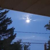 la lune du matin