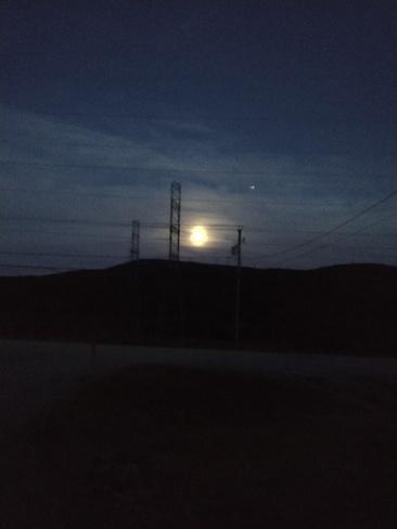 pleine lune Baie-Saint-Paul, QC