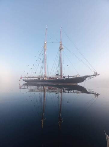 Bluenose on a foggy morning in Hacketts Cove, NS Hacketts Cove, Nova Scotia