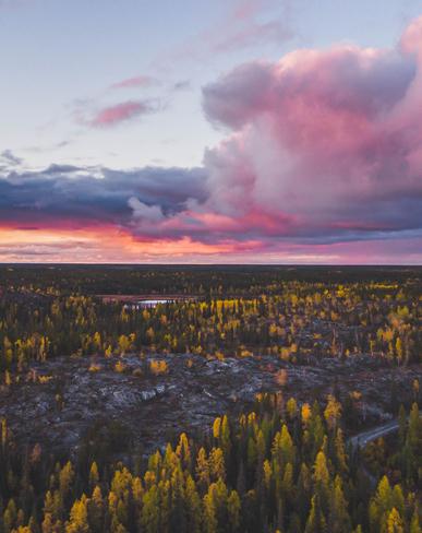 Sunset in YK Yellowknife, Northwest Territories, CA