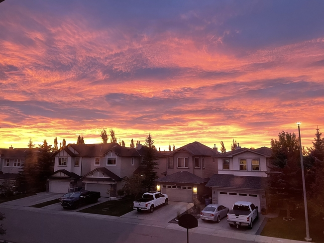 Orange sky Calgary, Alberta, CA
