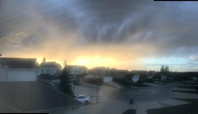 Sun and cloud Winnipeg, MB