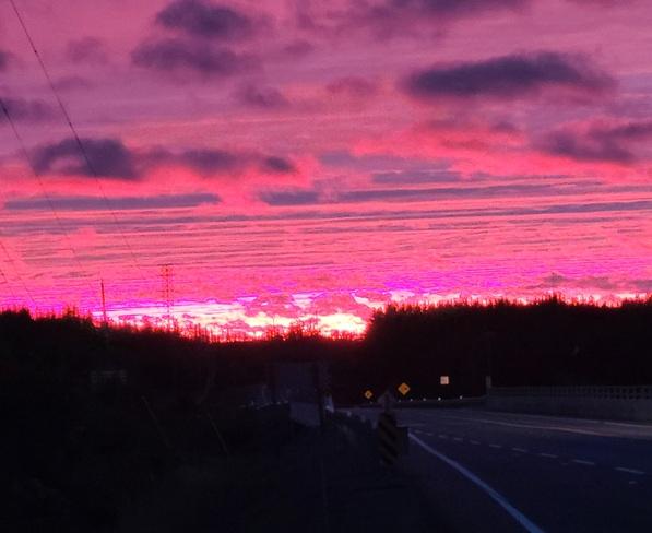 amazing sunset Wahnapitae, ON