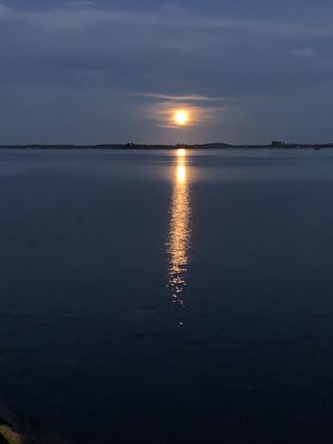 Beautiful moon Gananoque, ON