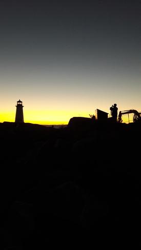 Light house , sun set Peggys Cove, Nova Scotia