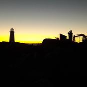 Light house , sun set